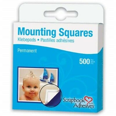 "Scrapbook Adhesives Mounting Squares 500/pkg-permanent, White, .5""x.5"" - White"