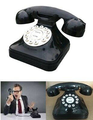 Retro Rotary Phone Vintage Style Home Office Push Button Landline Corded Phone