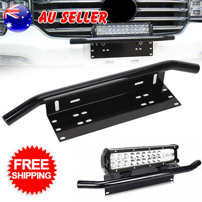 Number Plate Bullbar Frame Mounting Bracket Driving Light Bar Holder FLC