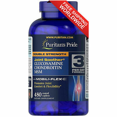 Puritan's Double Strength Glucosamine Chondroitin & MSM Joint Soother - 480 Caps