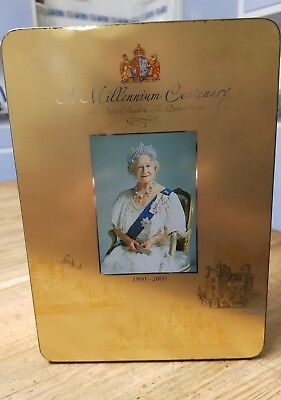 THE QUEEN MOTHER Millennium tin 1900-2000