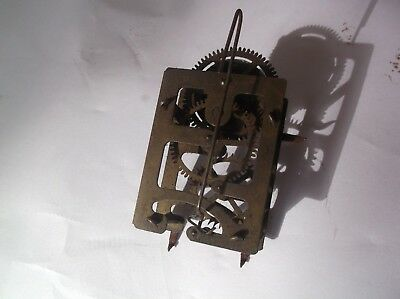 Mechanism From An Old Very Small Cuckoo Type Clock   Working Order Ref Z9