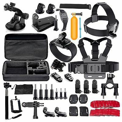 60 Pcs Accessories Set Kit For GoPro Hero 2 3 3+ 4 5 SJCAM Head Chest Strap O5D4