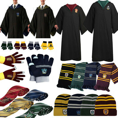 Harry Potter Grifondoro Mantello Sciarpa Cappello Guanti Cravatte Cos Costume