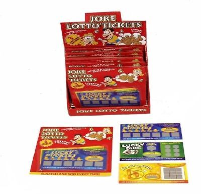 3 Joke Prank Winning Lotto Scratchcards*Tickets*Lottery*Fun*Cards*Win*