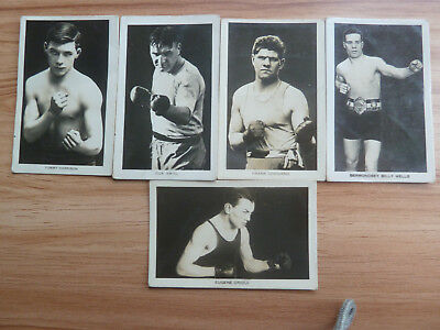 Five 1922 Boxing cards from Boys Friend mag. HARRISON SMITH CRIQUI GODDARD WELLS