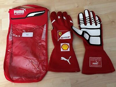 Ferrari F1 Handschuhe 2017 FIA Gloves Machanic Mechaniker Vettel & Kimi  **TOP**
