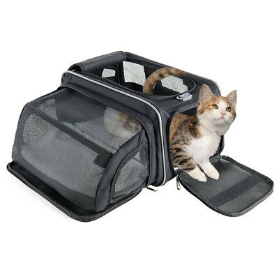 Fypo Pet Cat Carrier, Airline Approved Expandable Foldable Soft Sides, Size (M)