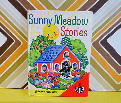 Vintage Retro Childrens Book Sunny Meadow Stories by David Cory 70s Brown Watson