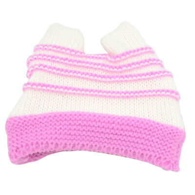Stripe Knitted Hat Cap Costume For 18inch Our Generation Doll Accessory Pink