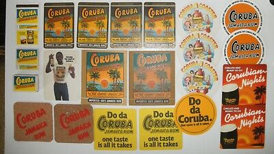 Drinks Coasters #03 - Rum, Coruba, x19 various styles, +03 Coruba matchbooks