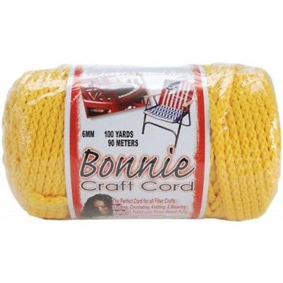 Pepperell Polyolefin Fiber Bonnie Macrame Craft Cord 6 Mmx 100 Yard-sunshine -