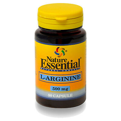 L-ARGININA 500mg. 50, 100, 150 o 250 Cápsulas - NATURE ESSENTIAL -