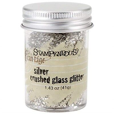 Stampendous Glass Glitter 1.43 Ounces-silver - Frantage Crushed Oz Ozsilver