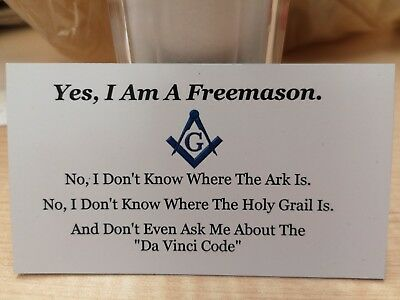 Masonic, Freemason novelty Fridge Magnet, Rare, Free shipping, Mint condition,