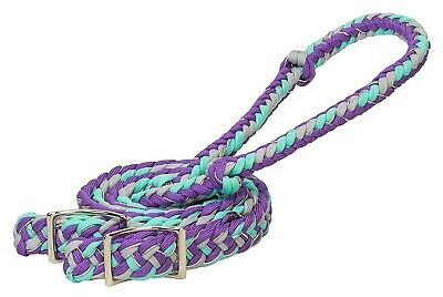 Weaver Braided Nylon Barrel Rein with Easy Grip Knots and Conway Ends - 8' Long