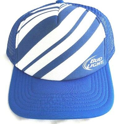 e2bf5adc NWOT Bud Light Trucker Round Bill Snap Back Mesh Back Vintage Style Hat (D1)
