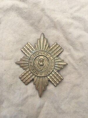 Original Victorian/Edwardian/WW1 British Scots Guards Brass Valise Pouch Badge