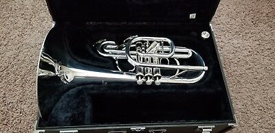Yamaha YMP-204M Silver Mellophone, Excellent Condition,  Worldwide Shipping!