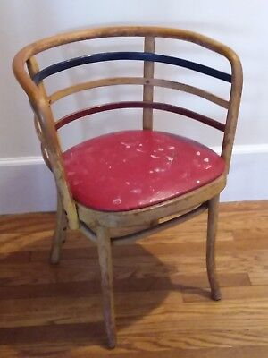 THONET Josef HOFFMANN Frank STYLE Secessionist red white and blue bentwood