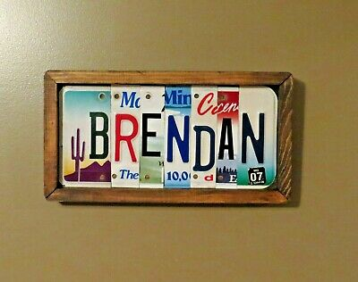 Custom License Plate Sign, Names, Personalized, Birthday Anniversary unique Gift