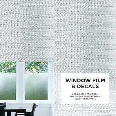Privacy Frosted Window & Door  Film Decorative Etched Glass Self Adhesive Vinyl
