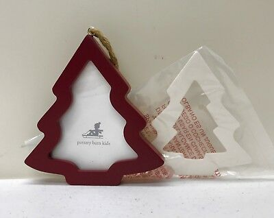 263afa2d9f2 POTTERY BARN KIDS glitter square frame Christmas ornament silver ...