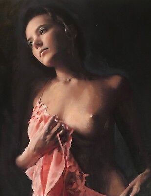 WILLIAM OXER ORIGINAL The Winds Of The Soul nude sexy Woman Girl PAINTING
