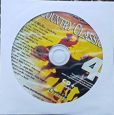 Country Classics 4 Karaoke Cdg Chartbuster Essentials Esp451-4 Cd+G Music New