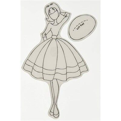 Prima Marketing Julie Nutting Mixed Media Audrey Cling Rubber Stamps - Stamps