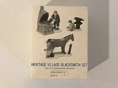 Dept 56 Dickens Village Series - Blacksmith, Set of 3 - #59340