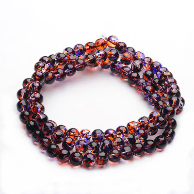 100pcs 31 Inch Strand Of   Baking Painted Glass Beads Strands 8mm -3047L