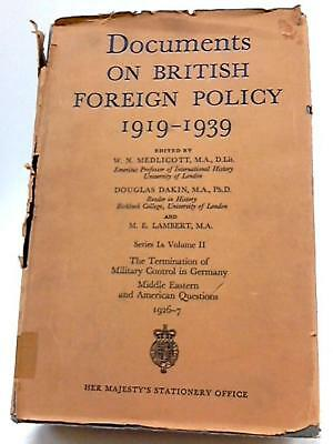 Documents On British Foreign Policy 1919-39b Vol. II (Various - 1968) (ID:74172)