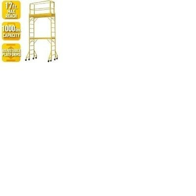 PRO-SERIES 12 ft. 2-Story Rolling Scaffold Tower with 1000 lb. Load Capacity