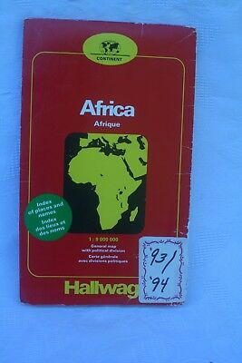 MAP OF AFRICA (1993 & 1994) - includes index of places and names