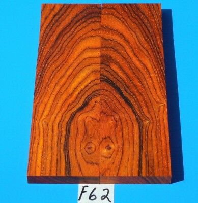 One Pair Knife Scales Colorful Cocobolo~Knife Blank Grips~Exotic Wood Lumber