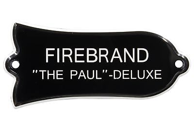 """Engraved """"FIREBRAND """"THE PAUL"""" - DELUXE"""" Truss Rod Cover for Gibson 2ply B/W"""
