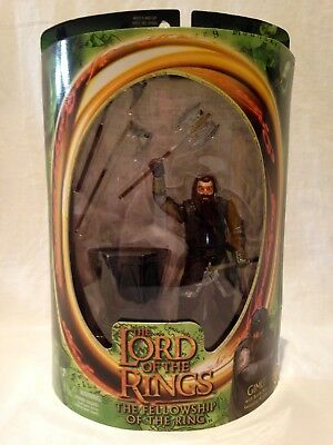 ToyBiz Lord of the Rings Fellowship of the Ring Gimli Battle Axe Action NEW BNIB
