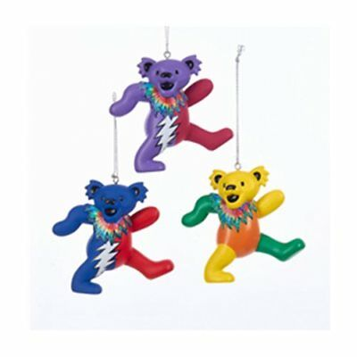 Grateful Dead Dancing Bear 3-Inch Holiday Ornaments Christmas Tree Decorations