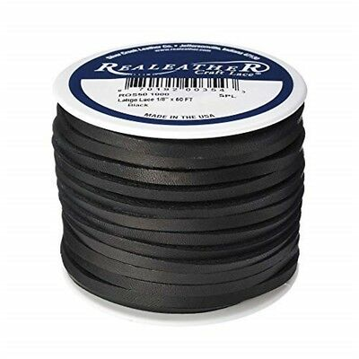Realeather Crafts Leather Latigo Lace Spool-black - 125x50 Spoolblack