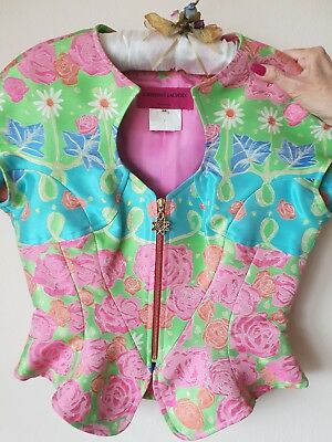 Christian Lacroix silk embroidered top and skirt