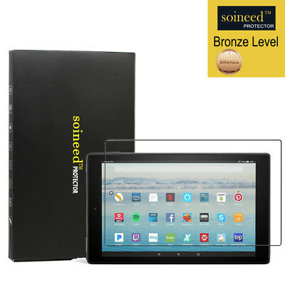 """SOINEED Amazon Fire HD 10 Tablet 7th 2017 10.1"""" Tempered Glass Screen Protector"""