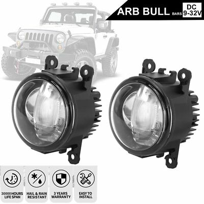 2x 30W Bullbar LED Fog Lights w/ DRL Turn Signal Driving Lamp for Toyota Hilux