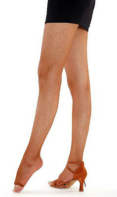 FD 3 Women Professional Latin Tango Dance Fishnet Stockings Toe