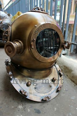 Anchor Diving Divers Helmet Solid Steel & Brass Full Size