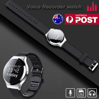 8GB Digital Voice Recorder Wearable Wristband Watch Recorder Audio Recording Pen