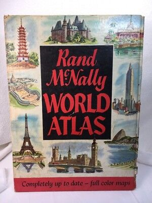 Vintage Rand McNally World Atlas 1955