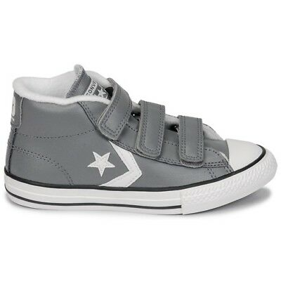 03298371e1938 Chaussures CONVERSE cuir p 36 - NEUF neuves STAR PLAYER 3V MID GRIS grey  grises
