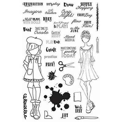 Prima Marketing Julie Nutting Planner Clear Stamps-craft Day - Craft Stamps