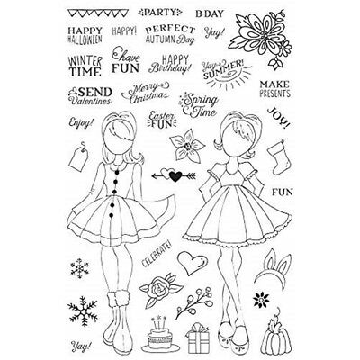 Prima Marketing Julie Nutting Planner Clear Stamp-holiday Bliss - Stamps